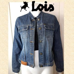 90s Vintage Lois authentic blue jean jacket